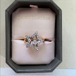 Juicy Couture diamond star ring